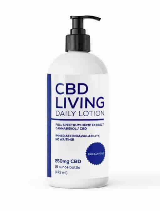 CBD Living Lotion Unscented 250mg