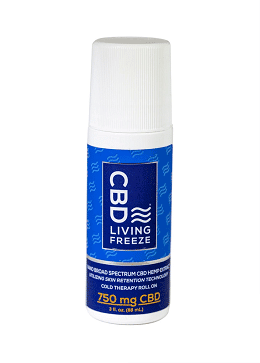 CBD Living Freeze Topical Roll On-750 Mg